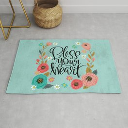 Pretty Not-So-Swe*ry: Bless Your Heart Rug