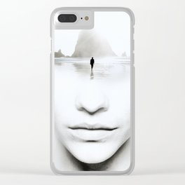in thoughts Clear iPhone Case