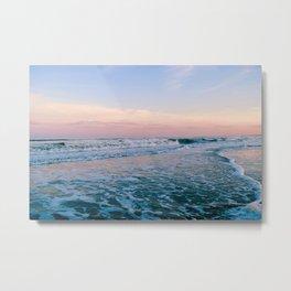 A Sea Foam Sunset Metal Print