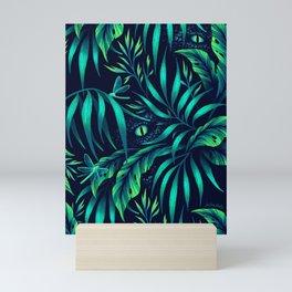 Jurassic Jungle - Green Mini Art Print