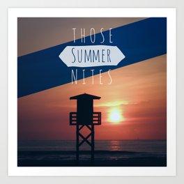 Those Summer Nights (Reprise) Art Print