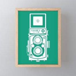 Yashica Mat 124G Camera Emerald Framed Mini Art Print