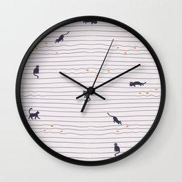 On the cat walk Wall Clock
