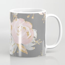 Night Rose Garden Gray Coffee Mug