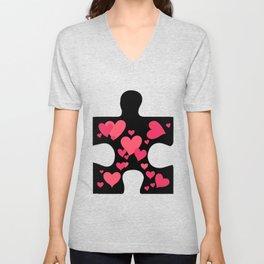 Love Autism Awareness Gift Unisex V-Neck