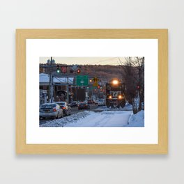 Busy Downtown Framed Art Print