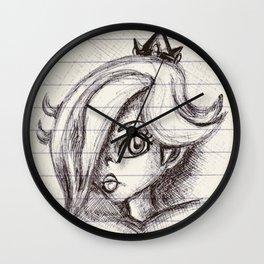 Rosalina Noire Wall Clock