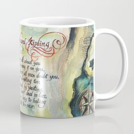 """Calligraphy of the poem """"IF"""" by Rudyard Kipling Coffee Mug"""