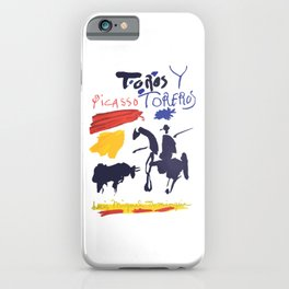 Toros Y Toreros (Bulls and Bullfighters) Artwork By Pablo Picasso T Shirt, Book Cover iPhone Case