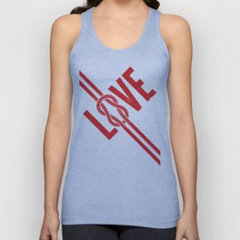 Love Knot (Red) Unisex Tank Top