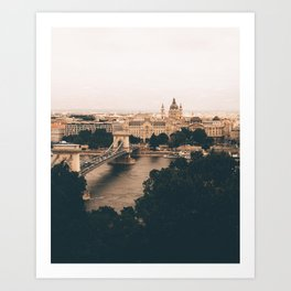 The moods of Budapest Art Print