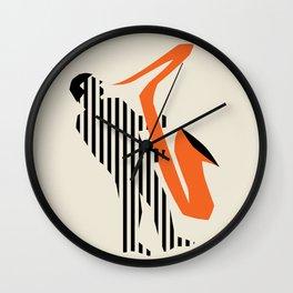 Vintage poster-Jazz festival-Newport beach 1. Wall Clock
