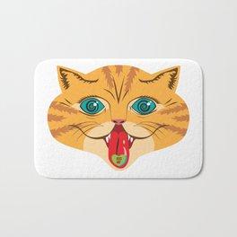 Kiss Me Ginger Cat Bath Mat