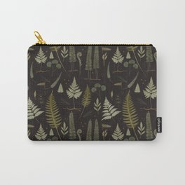 Fern pattern black Carry-All Pouch