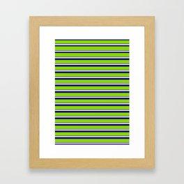 Green Stripes of Spring Framed Art Print