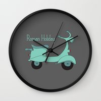 roman Wall Clocks featuring Roman Holiday by Halamo Designs