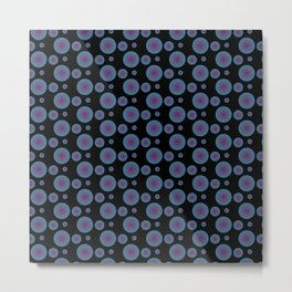 Bullseye in Blue II Metal Print