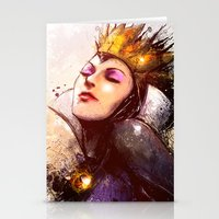 evil queen Stationery Cards featuring Evil Queen by Vincent Vernacatola