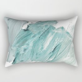 brushstrokes 11 aquamarine Rectangular Pillow