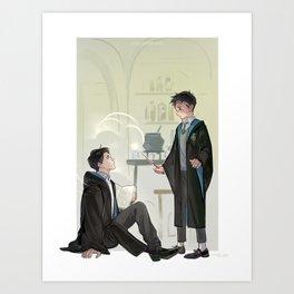 Hogwarts AU Art Print