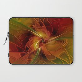 Warmth, Abstract Fractal Art Laptop Sleeve