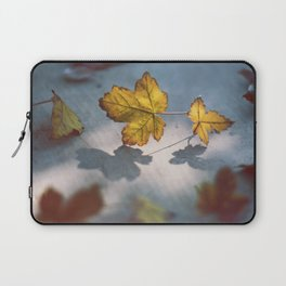 Fall Sunlight & Leaves Shadows Laptop Sleeve