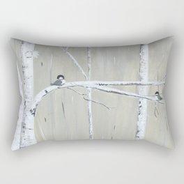 Birch Birds Rectangular Pillow