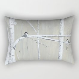 Birch Birds Rectangular Pillow