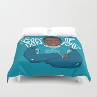 jay fleck Duvet Covers featuring Jay Gordon by Chelsea Herrick