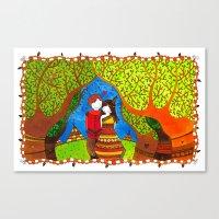 pocahontas Canvas Prints featuring Pocahontas by Sandra Nascimento