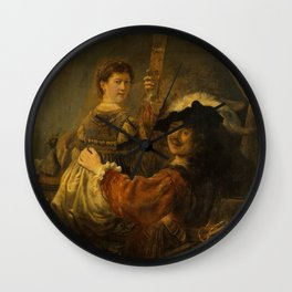 """Rembrandt Harmenszoon van Rijn, """"The Prodigal Son in the Brothel"""", 1637 Wall Clock"""