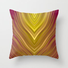 stripes wave pattern 3 ee Throw Pillow