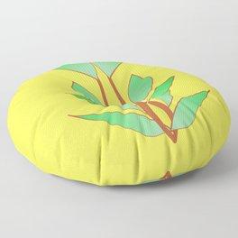 Illuminating Fern Leaf Graphic Print Floor Pillow