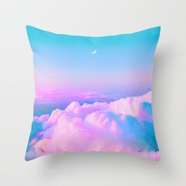 Bubblegum Sky Throw Pillow