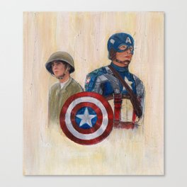 stay who you are, not a perfect soldier, but a good man... Captain America Canvas Print