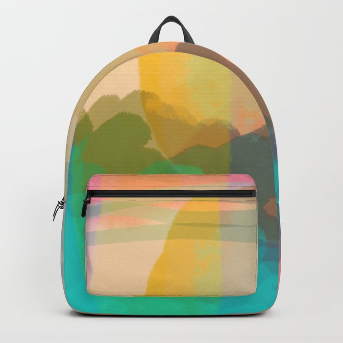 Shapes and Layers no.10 - Sun, Waves, Clouds, Sky abstract Rucksack