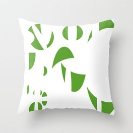Abstract the Green Throw Pillow