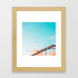 Up Into the Cotton Candy Framed Art Print