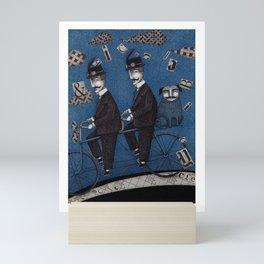 Two Men Travelling Mini Art Print