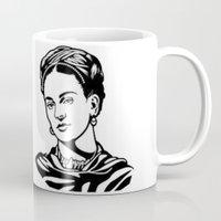 frida Mugs featuring Frida  by b & c