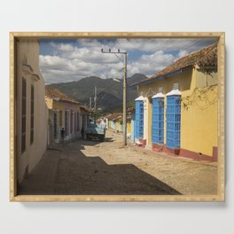Wonderful Trinidad, Cuba.  A colourful city, at the feet of majestic mountains. Serving Tray