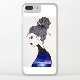 Midnight Sea Soul Clear iPhone Case