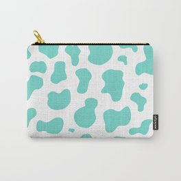 Cute Pastel Blue Cow Pattern Carry-All Pouch