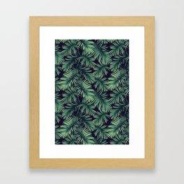 Green palm leaves Framed Art Print