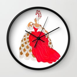 """Erté's """"Victorian Palace Theatre"""" Costume Wall Clock"""