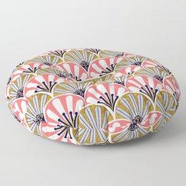 feather plume art deco fan Floor Pillow