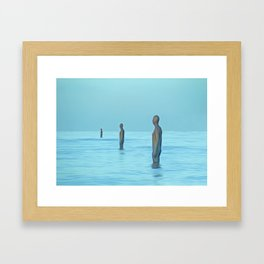 Three Gormley Iron Men Framed Art Print