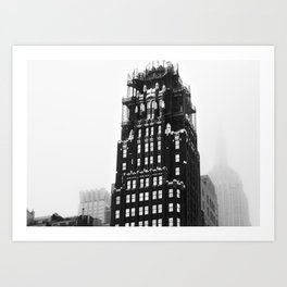 Black & White New York Street American Radiator Building Bryant Park Art Print