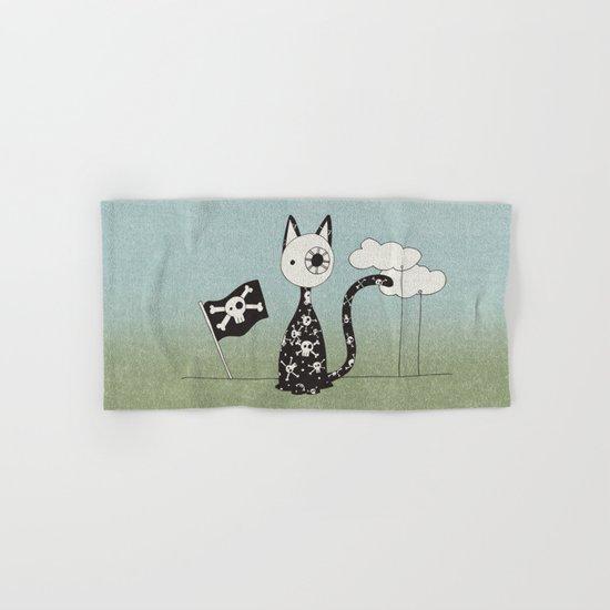 Just a Pirate Cat Hand & Bath Towel