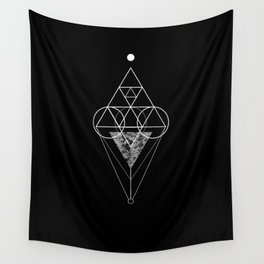 Triangle texture geometry Wall Tapestry